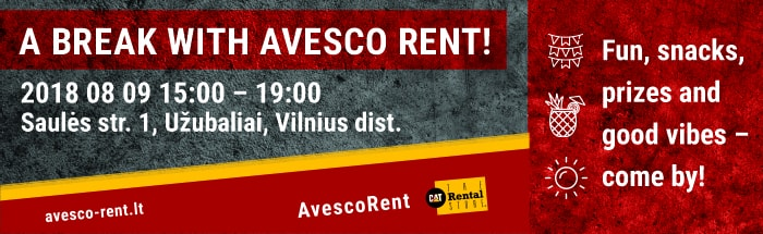 Have a break wth Avesco Rent!